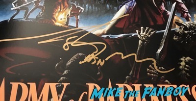 bruce campbell sam rami signed autograph army of darkness poster