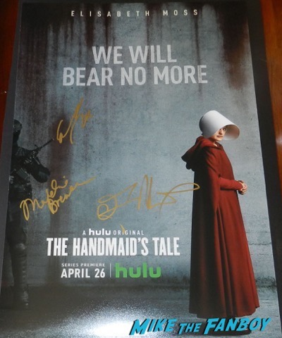 elisabeth moss signed autograph the handmaid's tale poster psa
