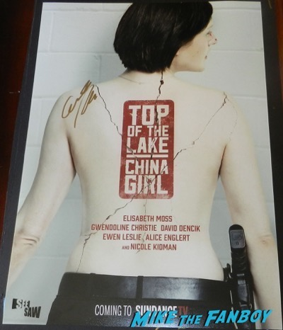 elisabeth moss signed autograph top of the lake china girl poster psa