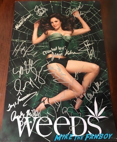 weeds cast signed autograph poster mary louise parker psa kevin nealon justin kirk