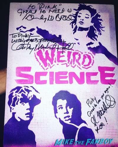 Anthony Michael Hall signed autograph weird science poster