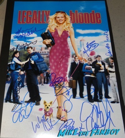 Reese Witherspoon signed autograph legally blonde poster psa rare