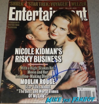 Nicole Kidman signed autograph entertainment Weekly magazine cover psa rare