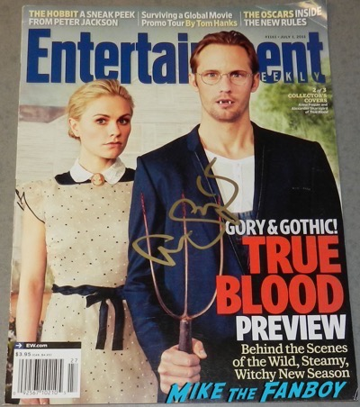 Alexander Skarsgard signed autograph entertainment Weekly magazine cover psa rare