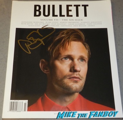 Alexander Skarsgard signed autograph Bullett magazine cover psa rare