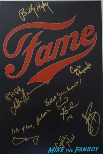 Fame Cast signed autograph poster psa debbie allen