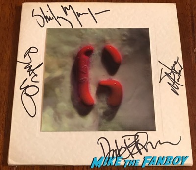 Garbage milk 45 lenticular sleeve signed autograph shirley manson butch vig psa
