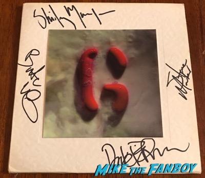 Garbage milk 45 lenticular sleeve signed autograph shirley manson butch vig psa