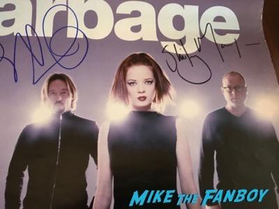 Garbage signed autograph tour poster shirley manson butch vig psa