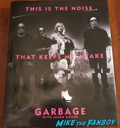 Garbage Signed Autograph This is the noise that keeps me awake book shirley manson
