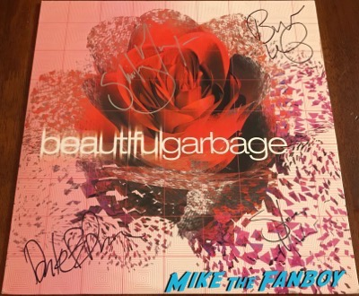 Garbage Beautiful Garbage LP signed autograph shirley manson butch vig psa