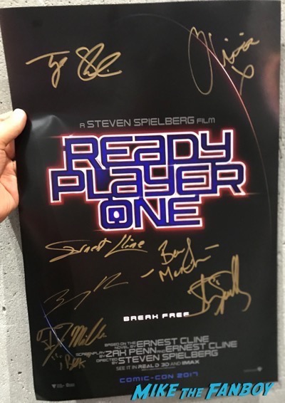 Ready Player One signed autograph poster sdcc