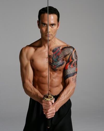 Mark Dacascos naked shirtless rare