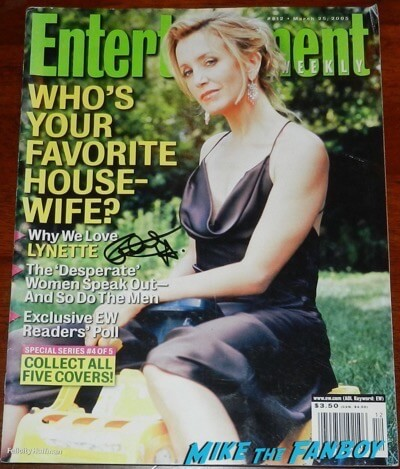 felicity huffman signed autograph entertainment weekly magazine