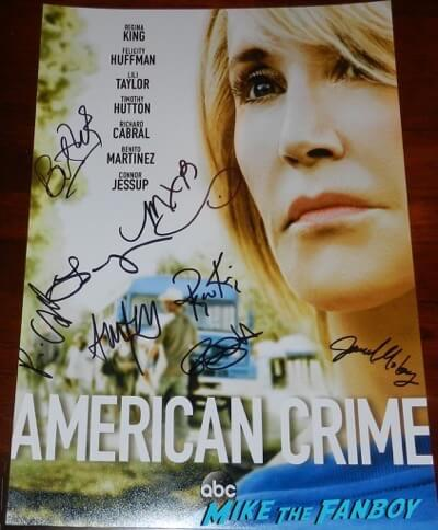 felicity huffman signed autograph american crime poster psa