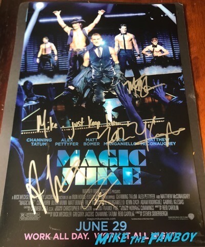 Channing Tatum signed autograph magic mike poster psa