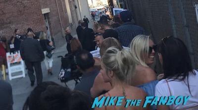Channing Tatum signing autographs jimmy kimmel live elisabeth moss 5