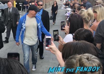 Channing Tatum signing autographs jimmy kimmel live elisabeth moss 4