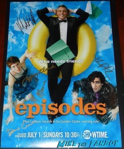 Matt LeBlanc signed autograph Episodes poster psa