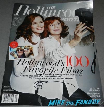 Susan Sarandon signed autograph hollywood reporter magazine