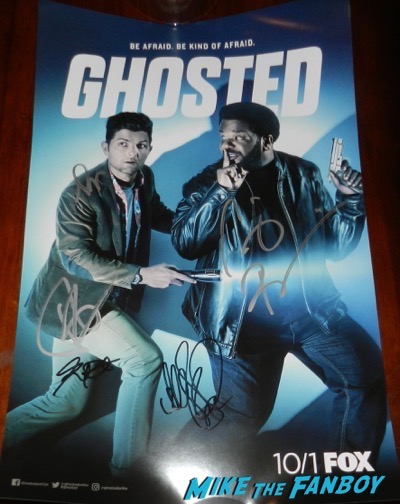 Ghosted sdcc comic con season one signed poster adam scott