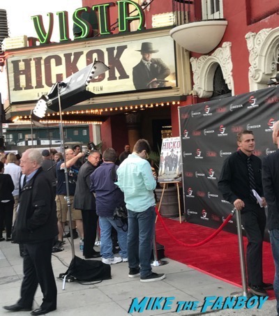 Hickok premiere meeting luke hemsworth with fans signing autographs 3