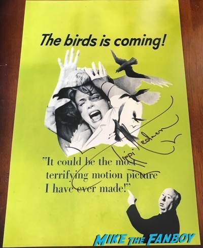 tippi hedren signed autograph The Birds poster signed Nebraska poster signing autographs meeting fans hollywood show