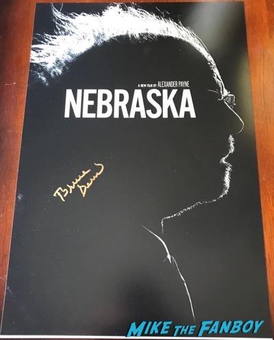 Bruce Dern signed Nebraska poster signing autographs meeting fans hollywood show