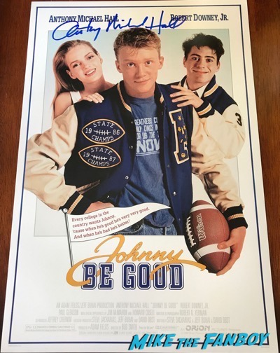 Anthony Michael Hall signed Johnny Be Good Poster