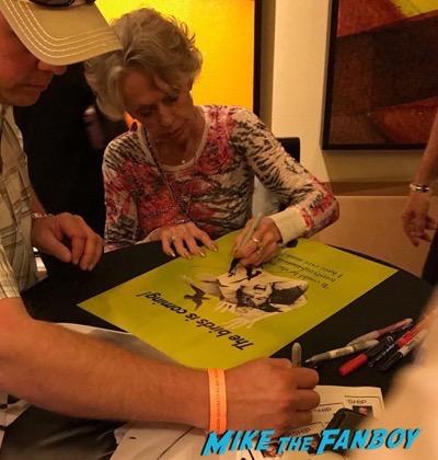tippi hedren signed Nebraska poster signing autographs meeting fans hollywood show