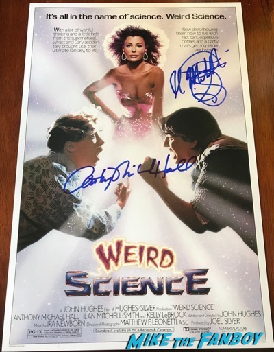Anthony Michael Hall signed weird science Poster