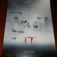 IT signed autograph poster sdcc comic con finn wolfhard psa