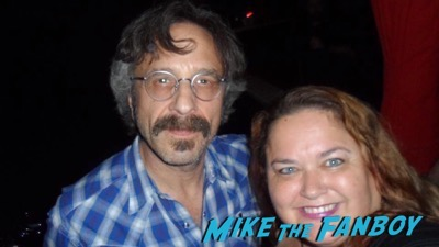 Marc Maron meeting fans signing autographs