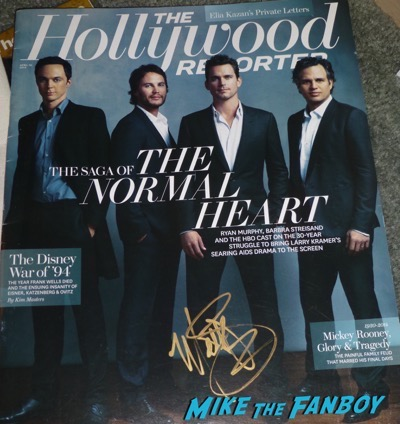 Matt Bomber signed autograph hollywood reporter magazine