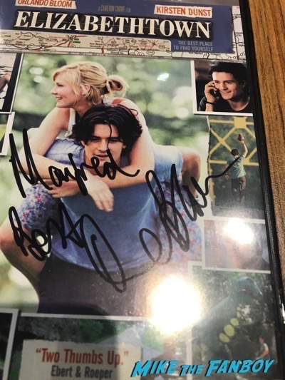 Orlando Bloom signed autograph elizabethtown dvd cover