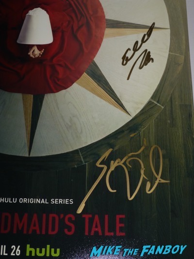 the handmaid's tale signed autograph poster elisabeth moss alexis bledel