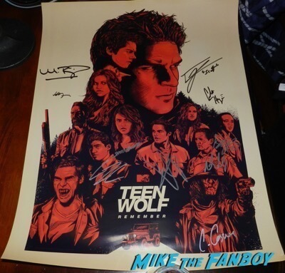 Teen Wolf Cast signed sdcc 2017 poster tyler posey shelley henning