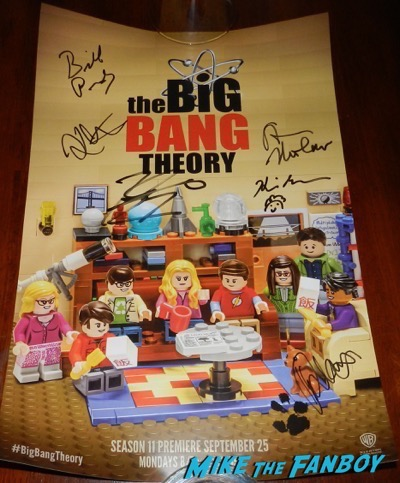 The Big Bang Theory san diego comic con signed poster 2017