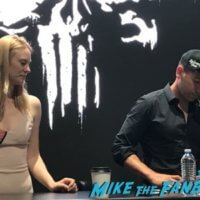 The Punisher SDCC Autograph signing jon Bernthal deborah Ann Woll 2