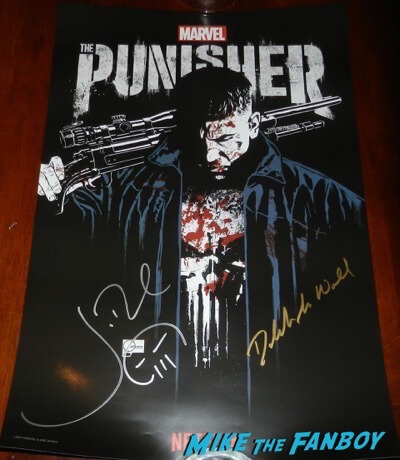 The Punisher SDCC signed autograph poster jon bernthal