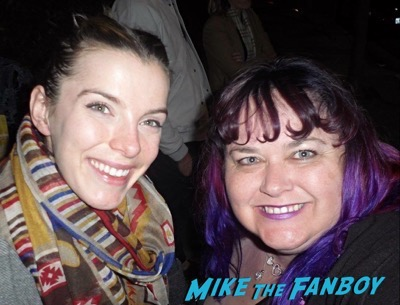 betty gilpin meeting fans signing autographs