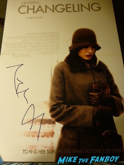 Angelina Jolie signed autograph changeling poster