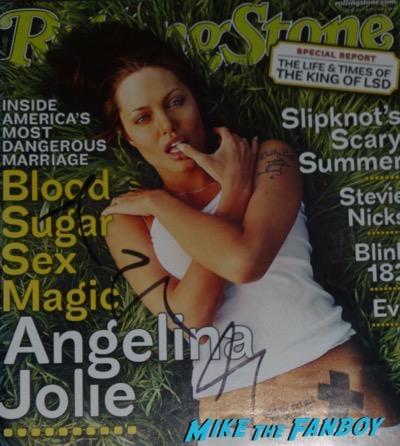 Angelina Jolie signed autograph rolling stone magazine