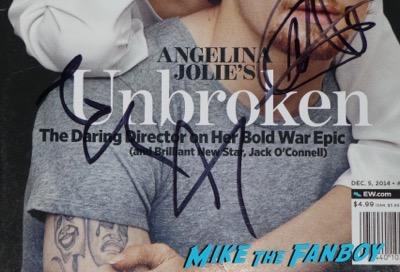 Angelina Jolie signed autograph entertainment weekly magazine
