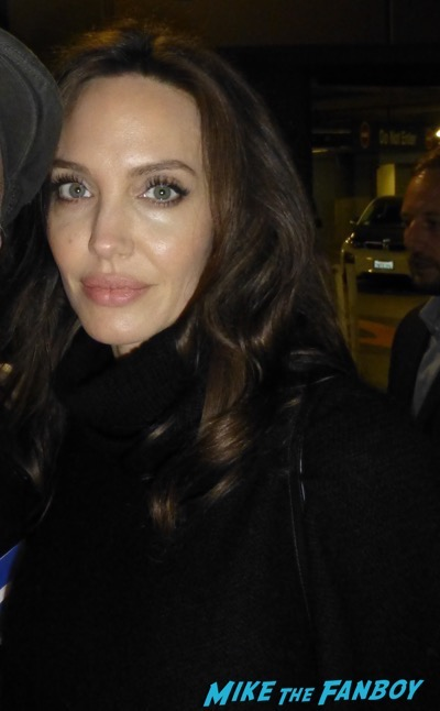 Angelina Jolie Signing Autographs los angeles q and a 7