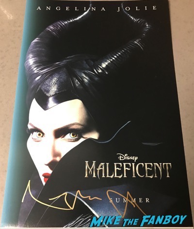 Angelina Jolie signed autograph maleficent poster
