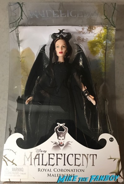 Angelina Jolie signed autograph maleficent doll