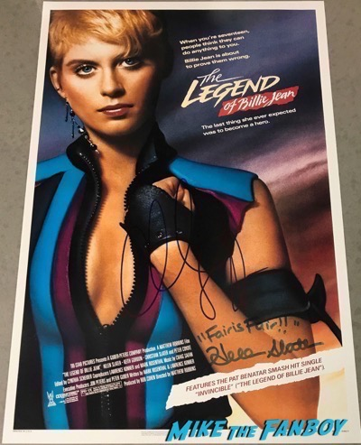 Christian Slater helen slater signed autograph poster the legend of billy jean psa
