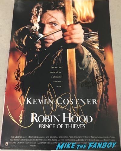 Christian Slater signed autograph robin hood poster kevin costner psa