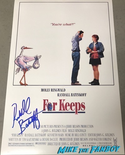 Randall Batinkoff signed autograph for keeps poster psa